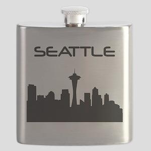 Seattle Skyline Flask