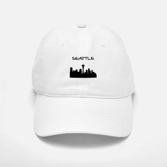Seattle Skyline Baseball Baseball Baseball Cap