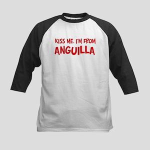Kiss me Anguilla Kids Baseball Jersey
