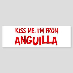 Kiss me Anguilla Bumper Sticker