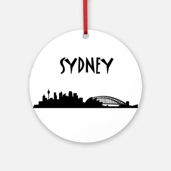 Sydney Skyline Ornament (Round)