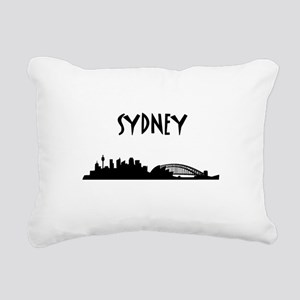 Sydney Skyline Rectangular Canvas Pillow