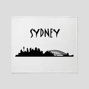 Sydney Skyline Throw Blanket