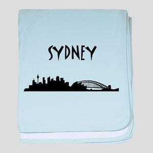 Sydney Skyline baby blanket