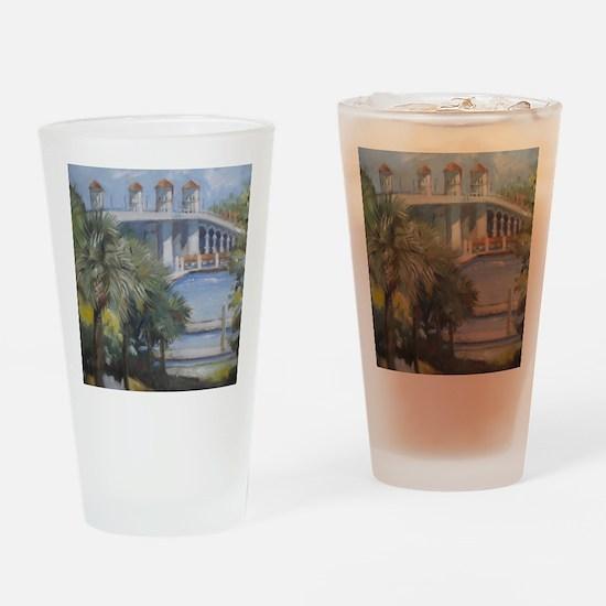 St Augustine Bridge of Lions Drinking Glass