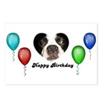 HAPPY BIRTHDAY DOG FACE Postcards (Package of 8)