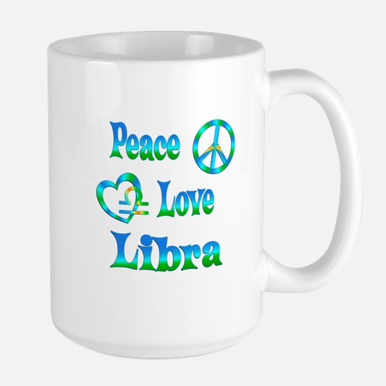 Peace Love Libra Large Mug