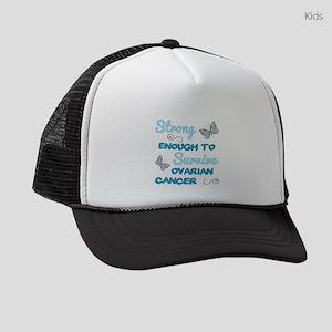 Ovarian Cancer Survivor Kids Trucker hat