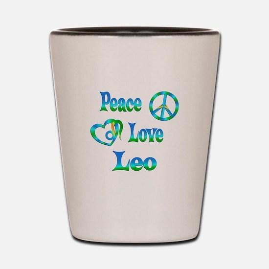 Peace Love Leo Shot Glass