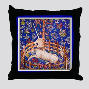 UNICORN IN CAPTIVITY Throw Pillow