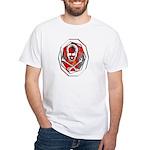 Smoke & Flames Skull White T-Shirt