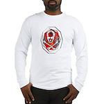 Smoke & Flames Skull Long Sleeve T-Shirt