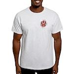 Smoke & Flames Skull Ash Grey T-Shirt