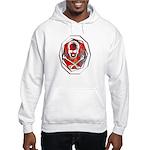 Smoke & Flames Skull Hooded Sweatshirt
