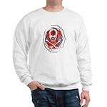 Smoke & Flames Skull Sweatshirt