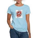 Smoke & Flames Skull Women's Pink T-Shirt