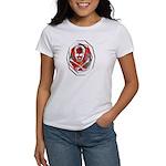 Smoke & Flames Skull Women's T-Shirt