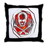 Smoke & Flames Skull Throw Pillow