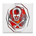 Smoke & Flames Skull Tile Coaster