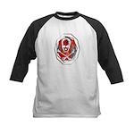 Smoke & Flames Skull Kids Baseball Jersey