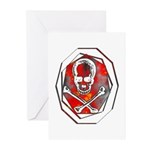 Smoke & Flames Skull Greeting Cards (Pk of 10)