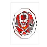 Smoke & Flames Skull Postcards (Package of 8)