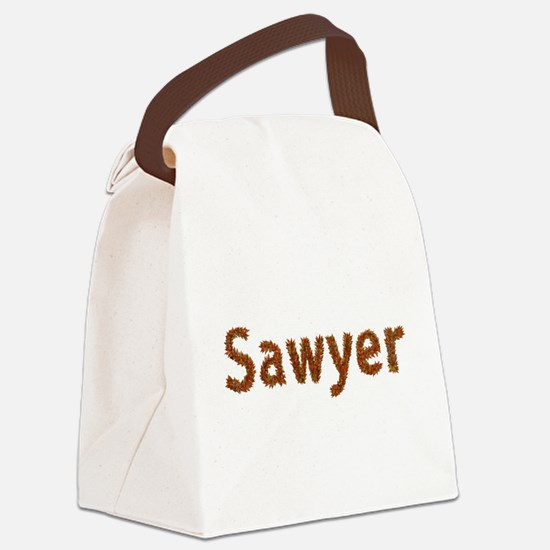 Sawyer Fall Leaves Canvas Lunch Bag