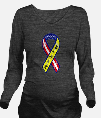 Support Our Troops R Long Sleeve Maternity T-Shirt