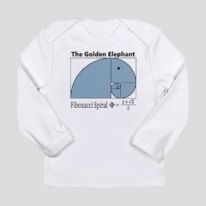 Fibonacci Spiral - Golden Elep Long Sleeve T-Shirt