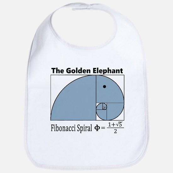 Fibonacci Spiral - Golden Elephant Baby Bib