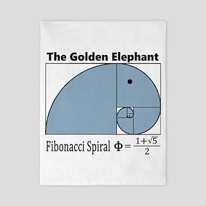 Fibonacci Spiral - Golden Elephan Twin Duvet Cover