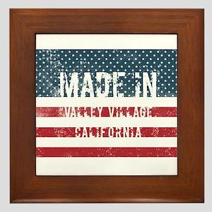 Made in Valley Village, California Framed Tile