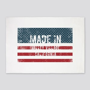Made in Valley Village, California 5'x7'Area Rug