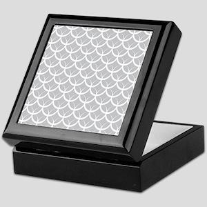 Gray Circle Pattern Keepsake Box
