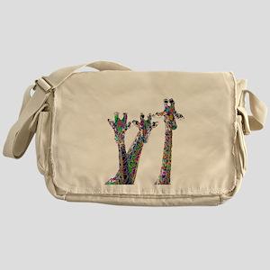 Giraffes in New Pajamas Messenger Bag