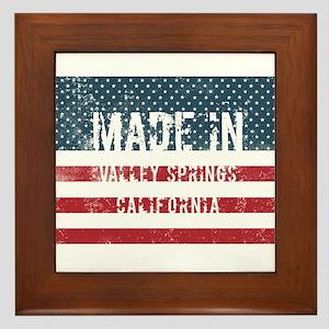 Made in Valley Springs, California Framed Tile