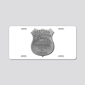 Western Atlantic Railroad Aluminum License Plate