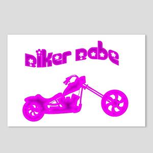 Pink Biker Babe Postcards (Package of 8)