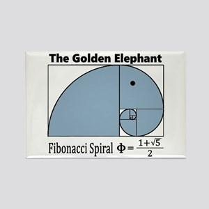 Fibonacci Spiral - Golden Elephant Magnets