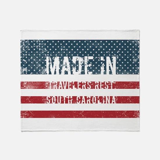 Made in Travelers Rest, South Caroli Throw Blanket