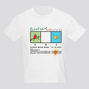 Goldfish and Robin, Global Math Week 2017 T-Shirt