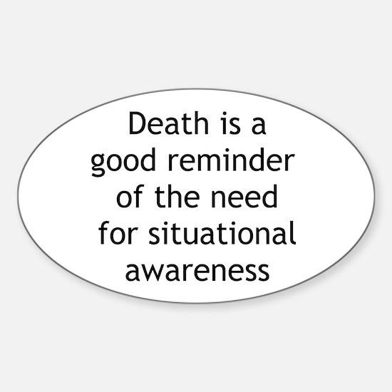 Situational Awareness Oval Decal