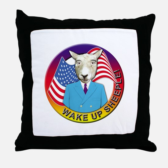 Sheeple Throw Pillow