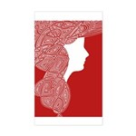 Red Lady Sticker (Rectangle)