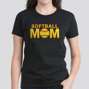 Softball Mom Yellow and Red Lace Women's Dark T-Sh