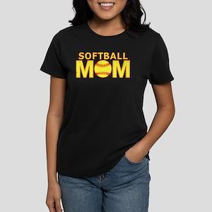 Softball Mom Yellow and Red Lace Women's Dark T-Sh