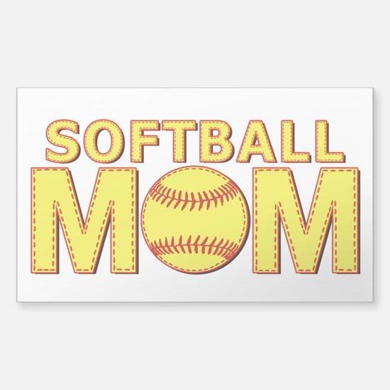 Softball Mom Yellow and Red Lace Decal