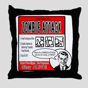 """Zombie Advice"" Throw Pillow"