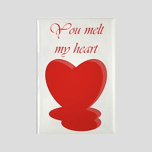 You Melt My Heart Rectangle Magnet