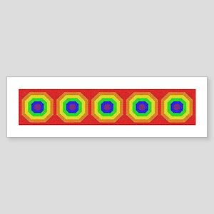 Rainbow Tiles & More #2 - Bumper Sticker